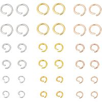 Unicraftale 304 Stainless Steel Jump Rings, Open Jump Rings, Mixed Color, 6.8x5.2x1.1cm; 450pcs/box