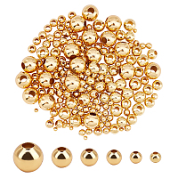 Unicraftale 304 Stainless Steel Beads, Round, Golden, 3~8x2~7.5mm, Hole: 0.8~3mm; 210pcs/box