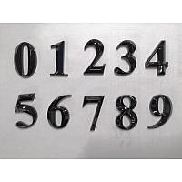 Gorgecraft Plastic & PVC Number Sign Labels, Black, 8: 50.5x31.5x8mm, 10pcs/set