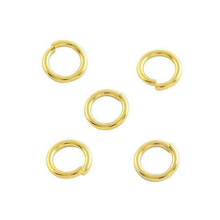 NBEADS 500pcs Stainless Steel Gold Open Jump Rings Connectors Jewelry Findings for Jewelry Making(6x0.7mm, 4.6mm inner diameter)