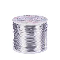 BENECREAT 17 Gauge Aluminum Wire Length 380FT Anodized Jewelry Craft Making Beading Floral Colored Aluminum Craft Wire - Silver