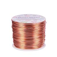 BENECREAT 17 Gauge Aluminum Wire Length 380FT Anodized Jewelry Craft Making Beading Floral Colored Aluminum Craft Wire - Copper