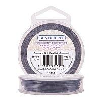 BENECREAT 18-Gauge Tarnish Resistant Black Wire, 33-Feet/11-Yard