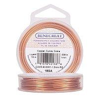 BENECREAT 18-Gauge Tarnish Resistant Copper Wire, 33-Feet/11-Yard