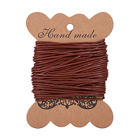 PandaHall Elite 1 Roll 1.5mm Brown Cowhide Round Leather Cords For Bracelet Necklace Beading Jewelry Making 11 Yard