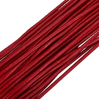 PandaHall Elite 1 Roll 3mm Red Cowhide Round Leather Cords For Bracelet Necklace Beading Jewelry Making 11 Yard