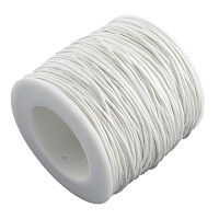 ARRICRAFT 1 Roll 1mm 100 Yards Waxed Cotton Cord Thread Beading String for Jewelry Making Crafting Beading Macrame White