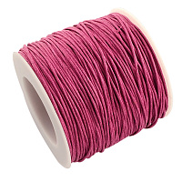 ARRICRAFT 1 Roll 1mm 100 Yards Waxed Cotton Cord Thread Beading String for Jewelry Making Crafting Beading Macrame Hot Pink