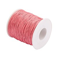 ARRICRAFT 1 Roll 1mm 100 Yards Waxed Cotton Cord Thread Beading String for Jewelry Making Crafting Beading Macrame Dark Orange