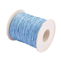 ARRICRAFT 1 Roll 1mm 100 Yards Waxed Cotton Cord Thread Beading String for Jewelry Making Crafting Beading Macrame Blue