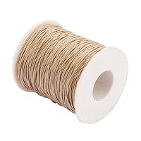 ARRICRAFT 1 Roll 1mm 100 Yards Waxed Cotton Cord Thread Beading String for Jewelry Making Crafting Beading Macrame Ginger Yellow
