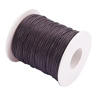 ARRICRAFT 1 Roll 1mm 100 Yards Waxed Cotton Cord Thread Beading String for Jewelry Making Crafting Beading Macrame Dark Brown