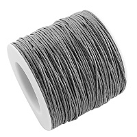 ARRICRAFT 1 Roll 1mm 100 Yards Waxed Cotton Cord Thread Beading String for Jewelry Making Crafting Beading Macrame Gray
