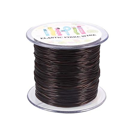 NBEADS A Roll 1.2mm Coconut Brown Korean Elastic Stretch String Cord Jewelry Making Bracelet Beading Thread (60m/Roll)