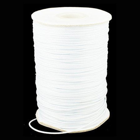 NBEADS 1.5mm 185 Yards White Beading Cords and Threads Crafting Cord Waxed Polyester Thread for Jewelry Making Bracelet