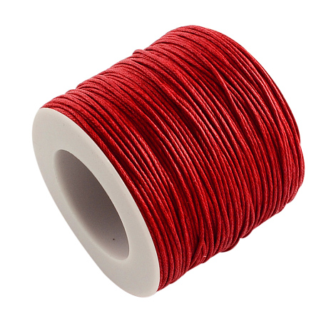 ARRICRAFT 1 Roll 1mm 100 Yards Waxed Cotton Cord Thread Beading String for Jewelry Making Crafting Beading Macrame Red
