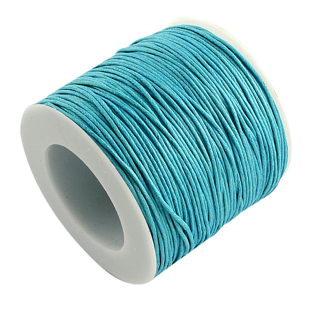 ARRICRAFT 1 Roll 1mm 100 Yards Waxed Cotton Cord Thread Beading String for Jewelry Making Crafting Beading Macrame Sky Blue