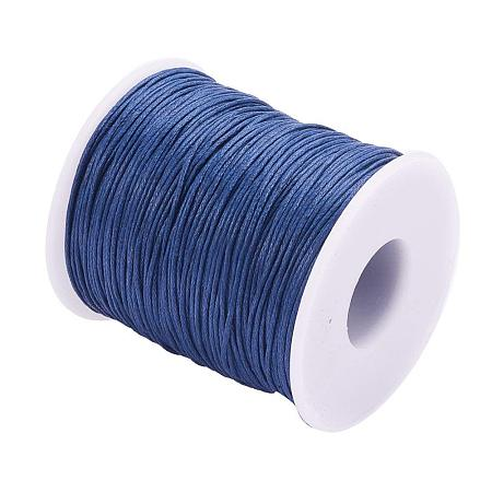 ARRICRAFT 1 Roll 1mm 100 Yards Waxed Cotton Cord Thread Beading String for Jewelry Making Crafting Beading Macrame Dark Blue