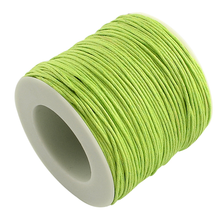 ARRICRAFT 1 Roll 1mm 100 Yards Waxed Cotton Cord Thread Beading String for Jewelry Making Crafting Beading Macrame GreenYellow