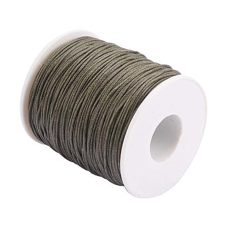 ARRICRAFT 1 Roll 1mm 100 Yards Waxed Cotton Cord Thread Beading String for Jewelry Making Crafting Beading Macrame OliveGreen
