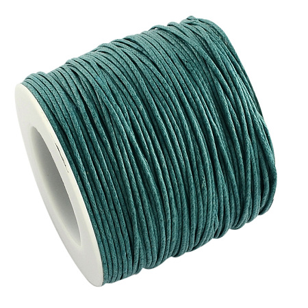 ARRICRAFT 1 Roll 1mm 100 Yards Waxed Cotton Cord Thread Beading String for Jewelry Making Crafting Beading Macrame Teal