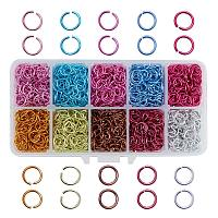 ARRICRAFT 1 Box (about 2000PCS) 10 Color Aluminum Wire Open Jump Rings for jewelry Making Accessories 8x1mm