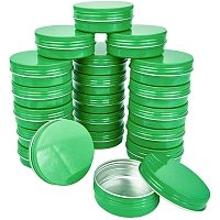 BENECREAT 20 Packs 60ML Green Round Tin Cans Screw Top Aluminum Cans for Storing Spices, Candies, Lip Balm and Party Favor Gifts