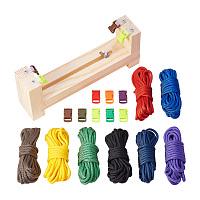 PandaHall Elite Jig Bracelet Maker with Parachute Cord, Wristband Maker - 8 parachute cords and 8 quick release buckles, Paracord Braiding Weaving DIY Craft Tool Kit