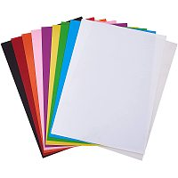 Arricraft 10 Sheets 11x7 Inch Heat Shrink Sheets Film Shrink Colorful Art Sheets for Classroom DIY Drawing Project Creative Art Craft Supply, 10 Colors