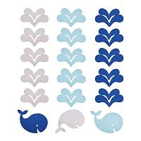 PandaHall Elite 22.5ft Whale Garland Hanging Decorations Ocean Theme Backdrop Bunting Banner Party Streamers for Summer Under The Sea Party Decoration Kids Room Decoration Baby Shower