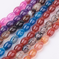 """NBEADS Natural Agate Beads Strands, Dyed, Barrel, Mixed Color, 9x6mm, Hole: 1mm, about 42pcs/strand, 15.1""""(38.5cm)"""