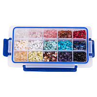 PandaHall Elite 15 Style Assorted Chips Stone Beads Crushed Chunked Crystal Pieces Irregular Shaped Loose Beads Value Pack