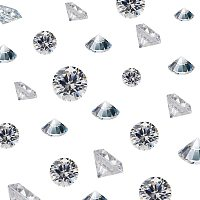 Nbeads 4850 Pieces Acrylic Diamonds, Wedding Table Scatter Faceted Confetti Crystals Rhinestones for Table Centerpiece Decorations Wedding Decorations