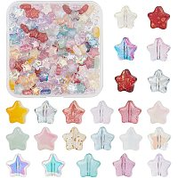 BENECREAT 230PCS Spray Painted Star Glass Beads 23 Colors 8mm Star Loose Beads Charming Beads for Earring Bracelet Necklace Jewelry DIY Craft Making (Hole size, 1mm)