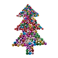 PandaHall Elite 240 Pcs Iron Craft Jingle Bells Mini Small Bell Loose Beads Charms for Christmas, Party & Festival Decorations and Jewelry Making