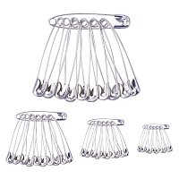 ARRICRAFT Platinum 4-Size Pack Of Safety Pins 240-Piece for Home, Office Use, Sewing Pins, Fabric, Fashion, Craft Pins, Marathon