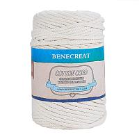 BENECREAT 5mm x 110 Yards(328 ft.) Macrame Cord 100% Natural Cotton Rope 4-Strand Twisted Cotton Cord for Handmade Plant Hanger Wall Hanging Craft Making