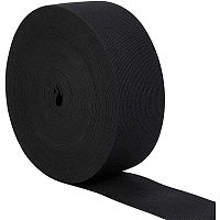 BENECREAT 2 Inch by 22 Yards Knit Elastic Band Flat Stretch Elastic Band for DIY Sewing Project Waist Band Making, Black