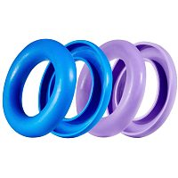 NBEADS 4 Pcs 2 Colors Sewing Bobbing Rings, Silicone Organizer Holder Case for Sewing Machine Bobbins