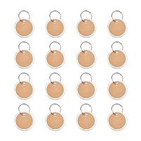 PandaHall Elite 50 Pack Aluminum Pendants with Paper Iron Key Ring Clasps Paper Key Tags with Split Rings Labels