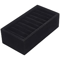 Arricraft Black Stackable 9 Slots Jewelry Rings Bangle Earrings Display Tray Velvet Showcase Display Organizer for Accessory Storage