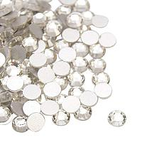 NBEADS About 1440pcs/bag Crystal Glass Flat Back Rhinestone, Half Round Grade A Back Plated Faceted Gems Stones for Nails Decoration Crafts Eye Makeup Clothes Shoes, 2.3~2.4mm