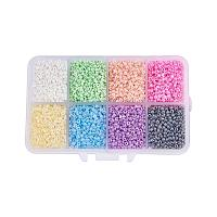 ARRICRAFT 1 Box About 8000pcs 12/0 Mixed Color Glass Seed Beads Diameter 2mm Ceylon Round Loose Spacer Beads