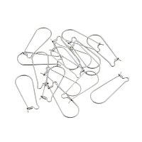 NBEADS 100pcs Hoop Earrings Components Ear Wires for Dangle Earrings Jewelry Making