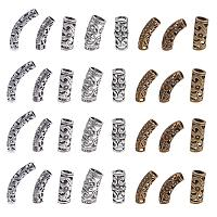 NBEADS 32 Pcs 8 Mixed Color Dreadlocks Beads Hair Beads Hair Braiding Jewelry Hair Decoration Accessories in Tibetan Style