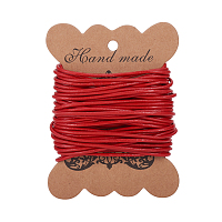 PandaHall Elite 1 Roll 2mm Red Cowhide Round Leather Cords For Bracelet Necklace Beading Jewelry Making 11 Yard