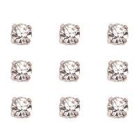 ARRICRAFT 50pcs Grade B Platinum Tone Square Brass Crystal Rhinestone Monte Beads, 6.5x6.5x5mm, Hole: 1mm