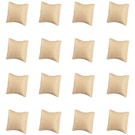 PandaHall Elite 10-Pieces Watch Bracelet Pillow Bangle Small Linen Pillow Jewelry Display, 2.73inch