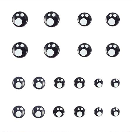 PandaHall Elite 100pcs 5 Size Resin Safety Eyes Craft Eyes Black Stuffed Toy Eyes with 100 Pieces Washers for Doll, Puppet, Plush Animal Making(8mm/ 10mm/ 12mm/ 14mm/ 16mm)