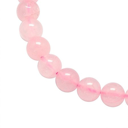 NBEADS 5 Strands 6mm Natural Rose Quartz Gemstone Beads Round Loose Beads for Jewelry Making, 1 Strand 65pcs